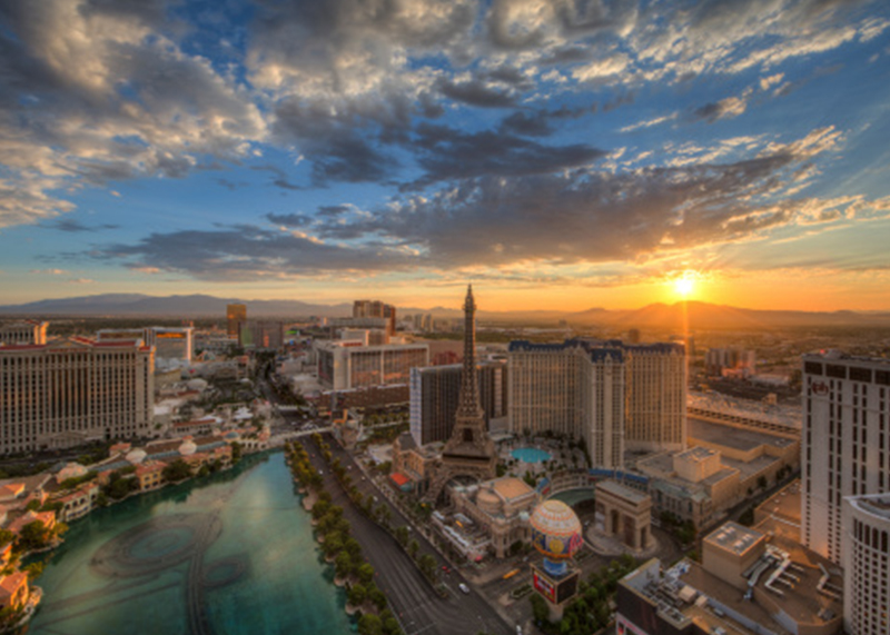 Las Vegas Sunset scene